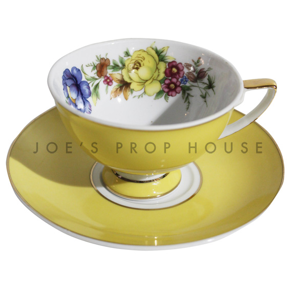 Samantha Floral Teacup and Saucer