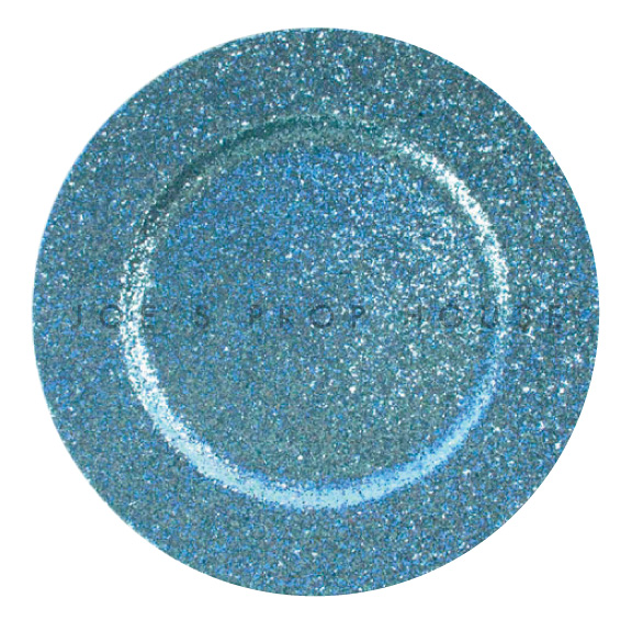 Antique Blue Glitter Charger Plate