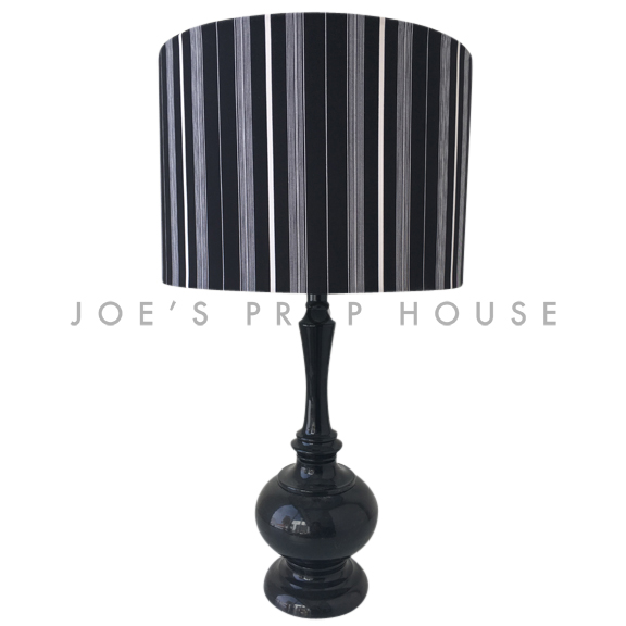 Tuxedo Stripe Table Lamp Black / White