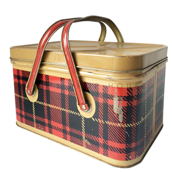 Red Plaid Picnic Basket