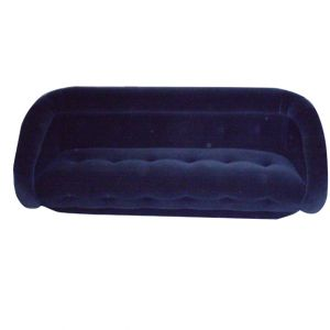 Dolores Velour Sofa Navy Blue