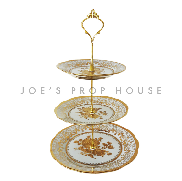 Goldie Three-Tier Porcelain Serving Tray