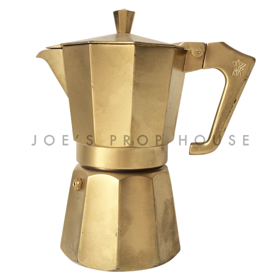 Stove Top Espresso Pot Gold