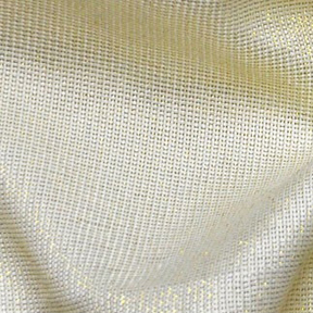 Ivory + Gold Metallic Thread VINTAGE LINEN Tablecloth Rectangular 112in x 156in