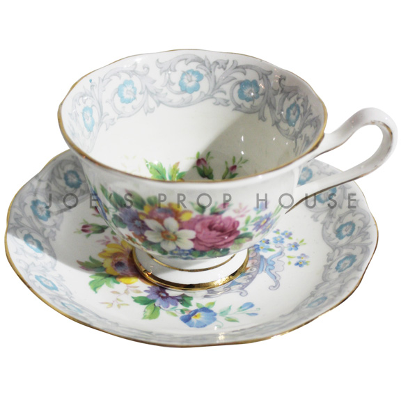 Camille Floral Teacup and Saucer