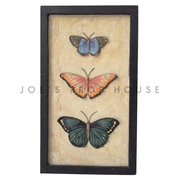 Rectangular 3D Butterfly Trio Wall Art