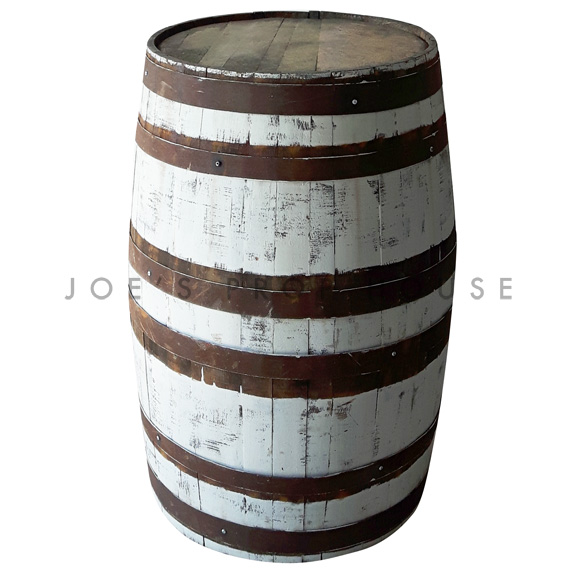 Large Whitewash Barrel