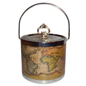World Map Ice Bucket