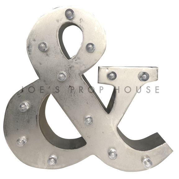 12in Galvanized Metal Marquee Symbol &
