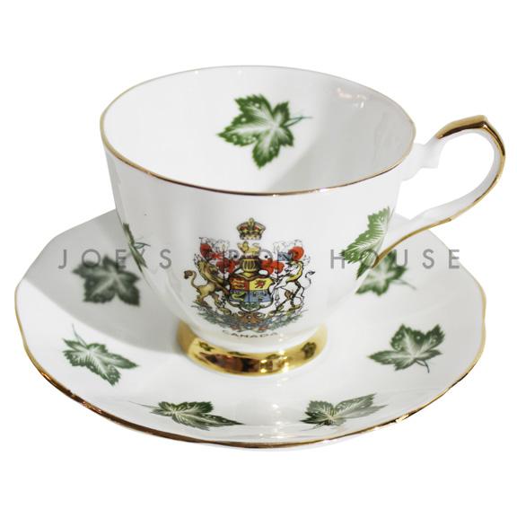 Maple Leaf Teacup and Saucer