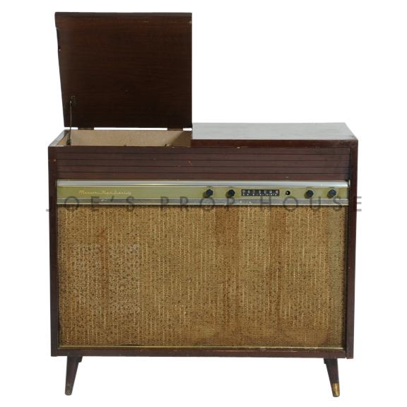 Vintage Single Radio Record Player Console