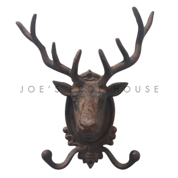 Cast Iron Deer Head Garment Hook