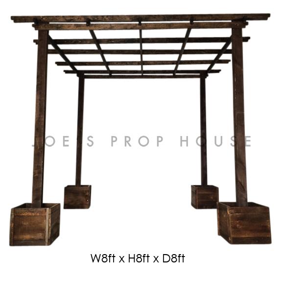 Wooden Pergola W8ft x H8ft x D8ft Brown