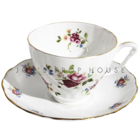 Becca Floral Teacup and Saucer