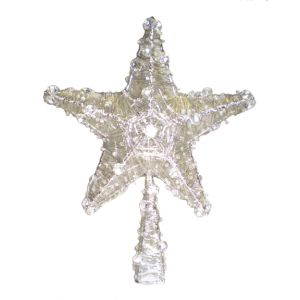 BUY ME / USED ITEM $10.99 Silver Wire Star Tree Topper
