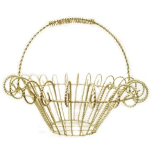 SALE ITEM Laura Metal Wire Basket Ivory