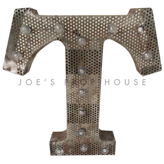 12in Perforated Metal Marquee Letter T