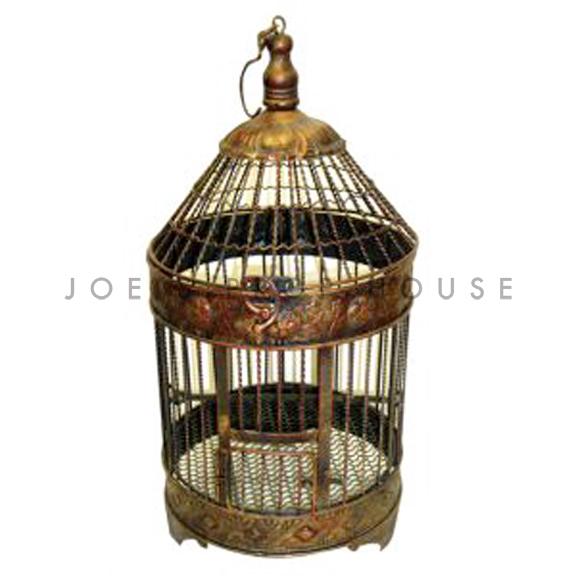 Winston Metal Bird Cage Bronze Large
