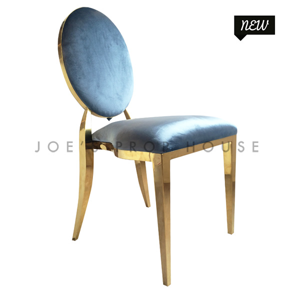 Versailles Antique Blue Velour Dining Chair