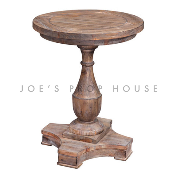 Hitchcock Round Pedestal End Table