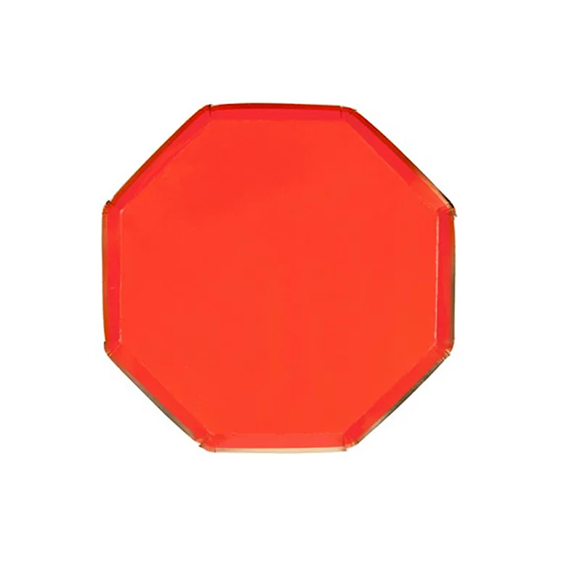 BUY ME / NEW ITEM $8.99 each Red Octagonal Small Paper Plates - 8 Pack