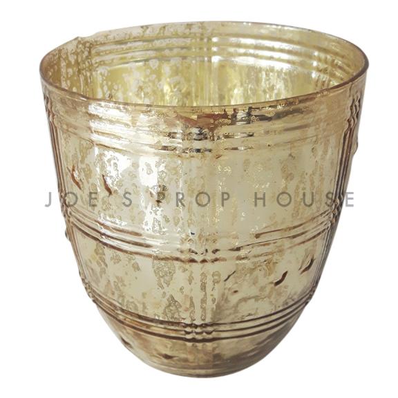 BUY ME / USED ITEM Estella Mercury Glass Vase LARGE Gold