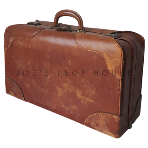 Rowland Leather Suitcase Brown