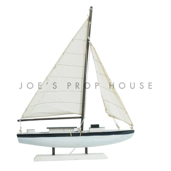 White Model Sailboat