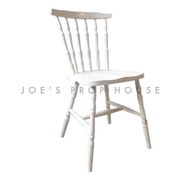 Missy Spindle Wooden Chair White