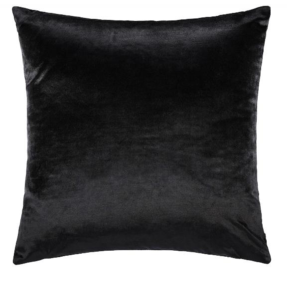 Black Velvet Accent Pillow