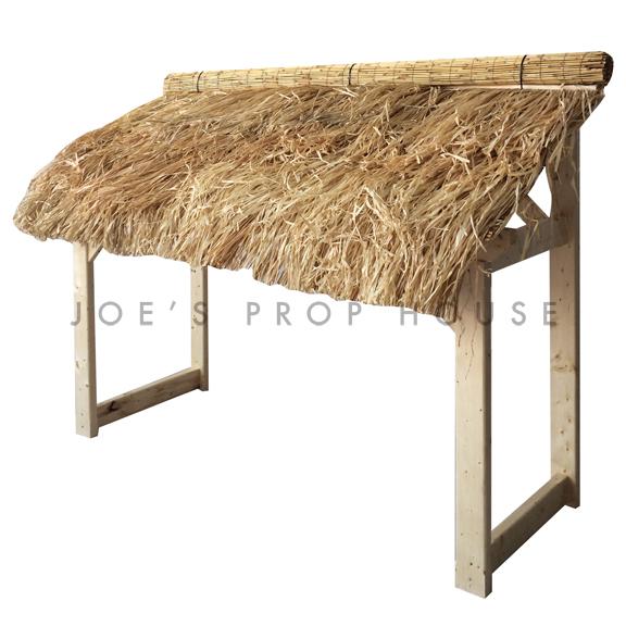 Grass Skirt Tiki Bar Awning Structure