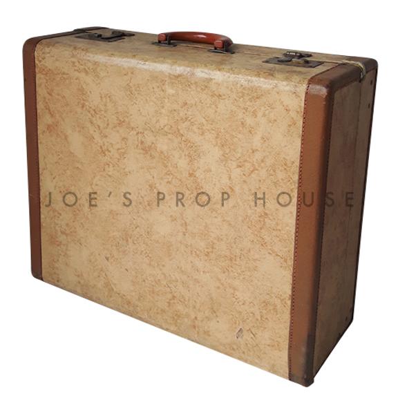 Ashford Hardshell Suitcase w/LIGHT BROWN Trim LARGE