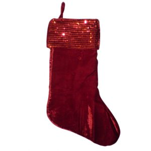 BUY ME / USED ITEM $12.99 Red Sequins Christmas Stocking