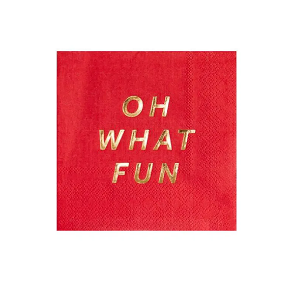 BUY ME / NEW ITEM $6.99 each Oh What Fun Small Paper Napkins - 20 Pack