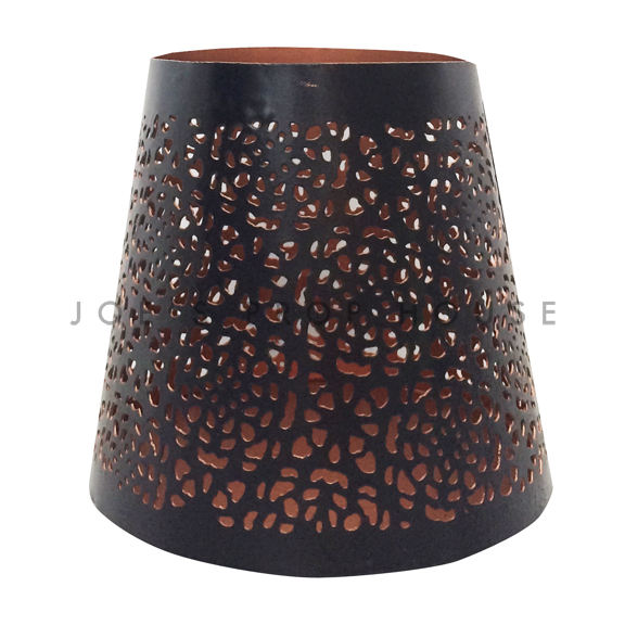 BUY ME / USED ITEM $4.99 each Perforated Black Metal w/Rose Gold Interior Votive Cups