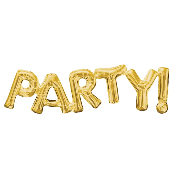 BUY ME / NEW ITEM $7.99 each PARTY! Gold Foil Balloon