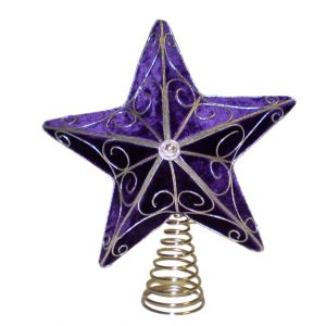 BUY ME / USED ITEM $5.99 each Purple Star Tree Topper