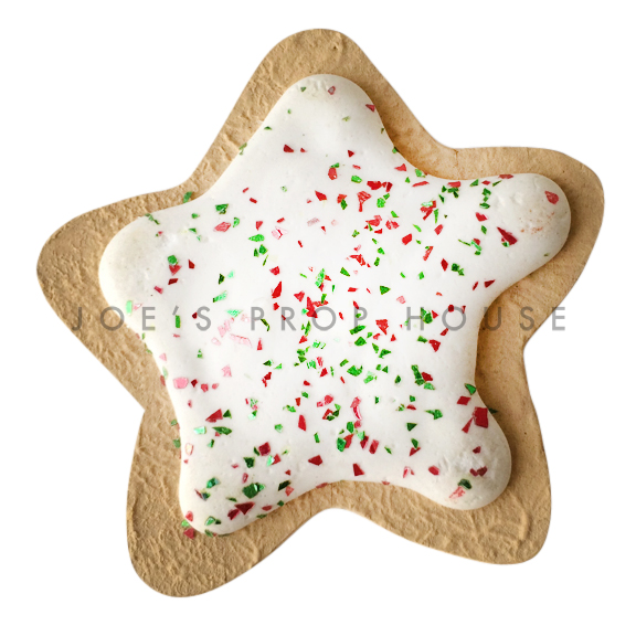 BUY ME / USED ITEM $5.99 each White Icing Star Cookie w/Glitter Dessert Prop