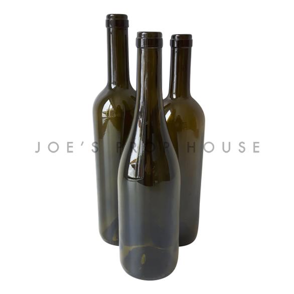 Assorted Dark Green Glass Wine Bottles / No Labels
