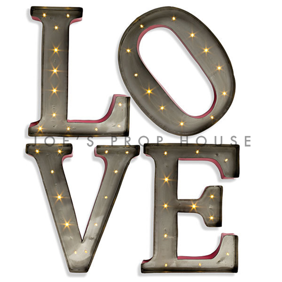 L-O-V-E 13in Metal Marquee Letters