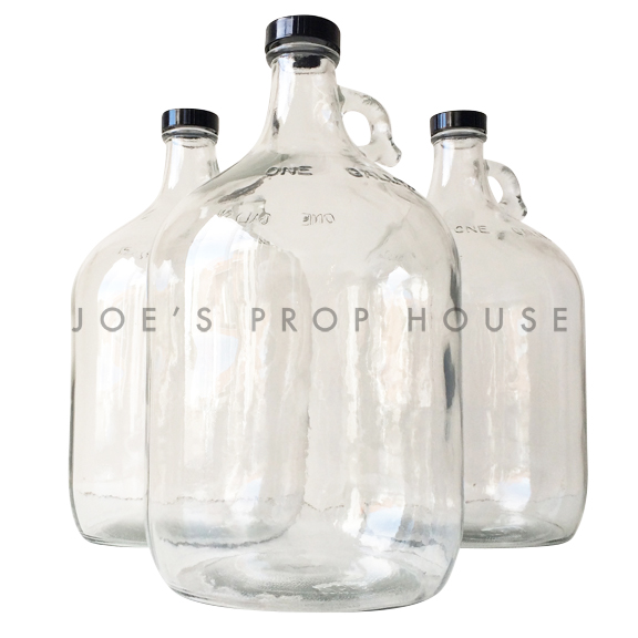 Empty Clear Glass Moonshine Jugs - 1 Gallon