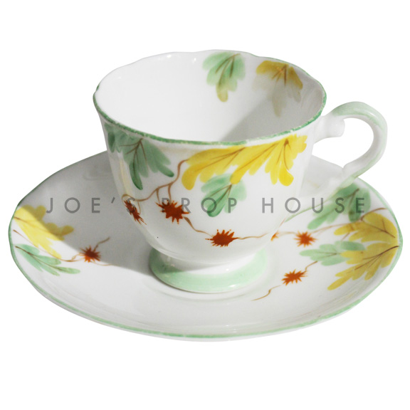 Valery Floral Teacup and Saucer