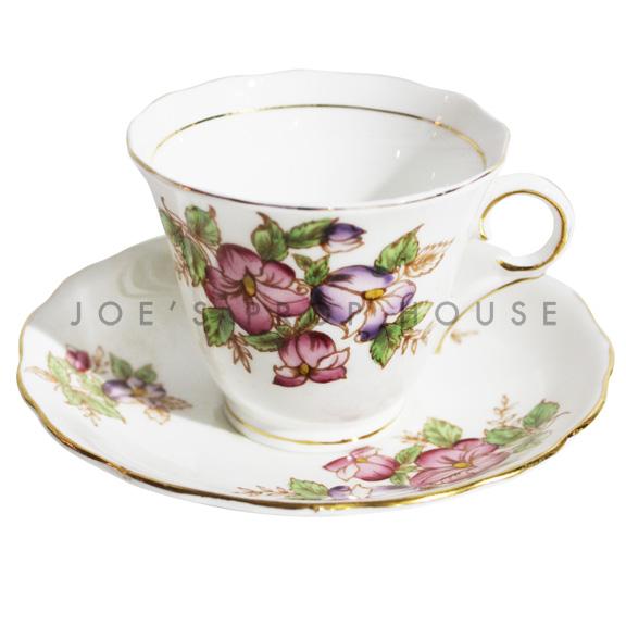 Myrtle Floral Teacup and Saucer