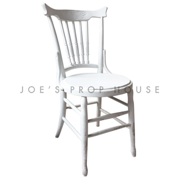 Brittany PLAIN Wooden Chair White