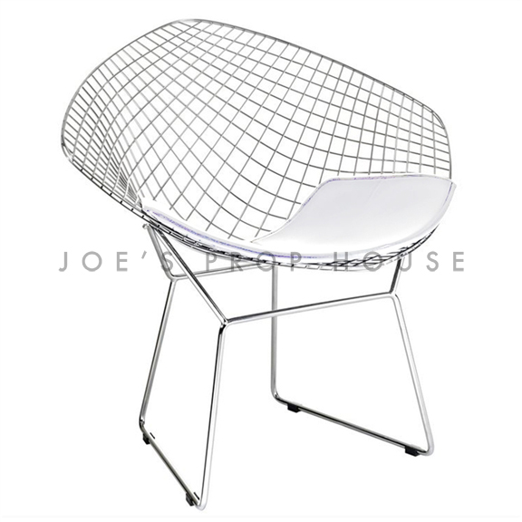 BUY ME / USED ITEM $195.00 each Replica Bertoia Wire Chair White Cushion