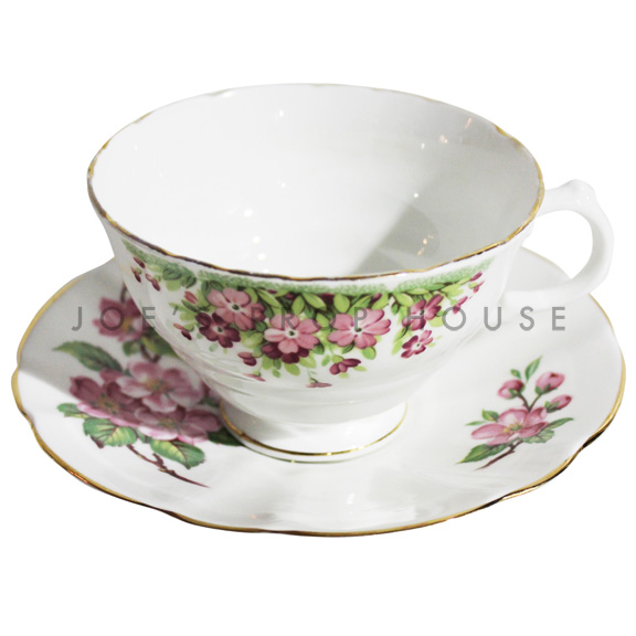 Hillary Floral Teacup and Saucer