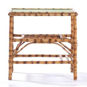 Bamboo Rectangular End Table