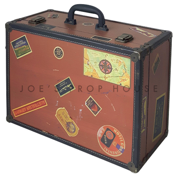 Old Stamps Hardshell Suitcase