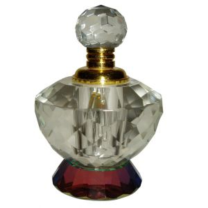 Red Base Crystal Perfume Bottle