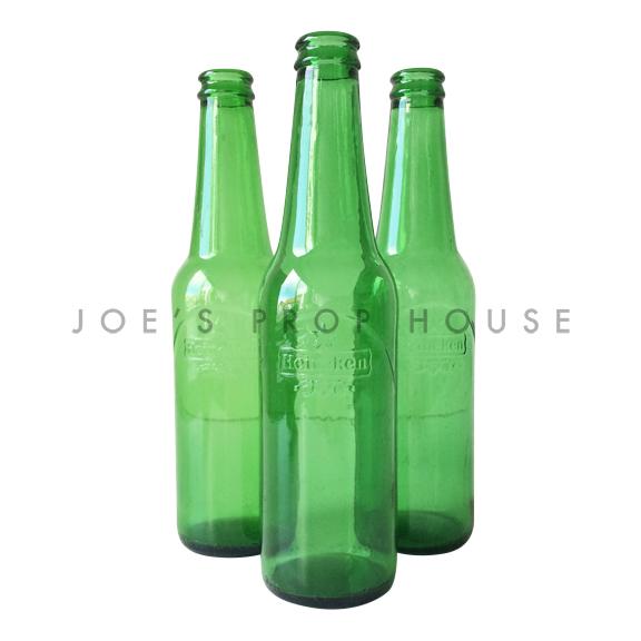 Empty Green Beer Bottles